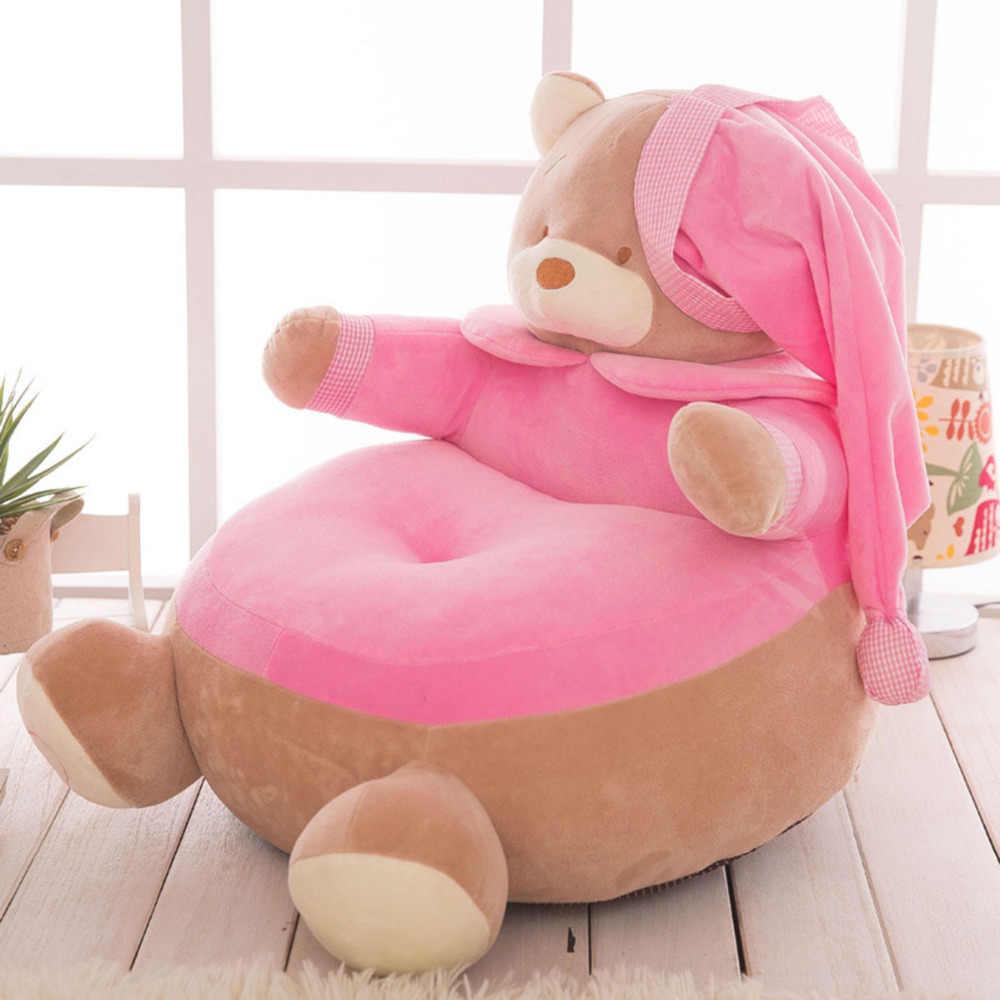 Детское сиденье кожи Дети младенческой кресло для сидения сиденье для малыша моющиеся Детские Носки с рисунком медведя из мультика детские бархатные только крышка без наполнения