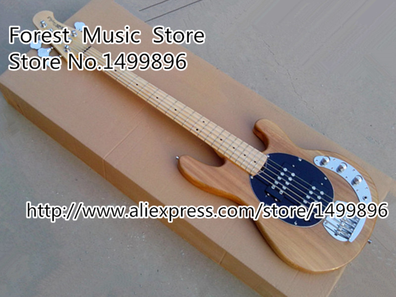 Top Selling Nature Wood Music Man StingRey5 Bass Guitar 5 String Electric Bass Guitar Left Handed Custom Available top quality multicolour sg electric guitar 4 string bass guitarra 22 frets left handed available