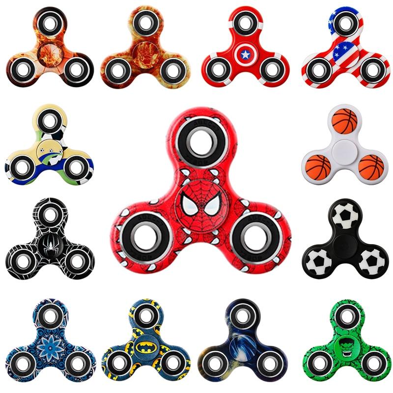 цены  Hand Spinner 27 Patterns Spinners Luminous Fidget EDC Tri-Spinner Finger Toys for Stress Autism ADHD Spinner-hand Fast Bearing