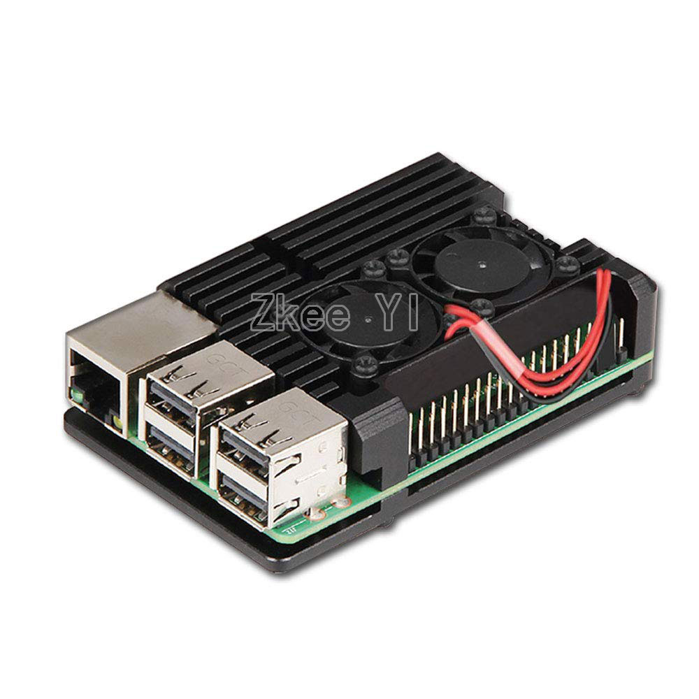 Image 4 - Aluminum Case Alloy Armor with Cooling Heatsink Dual Fan for Raspberry Pi 3/4 Model B,Pi 3 B+,Pi 2 Model B-in Demo Board Accessories from Computer & Office