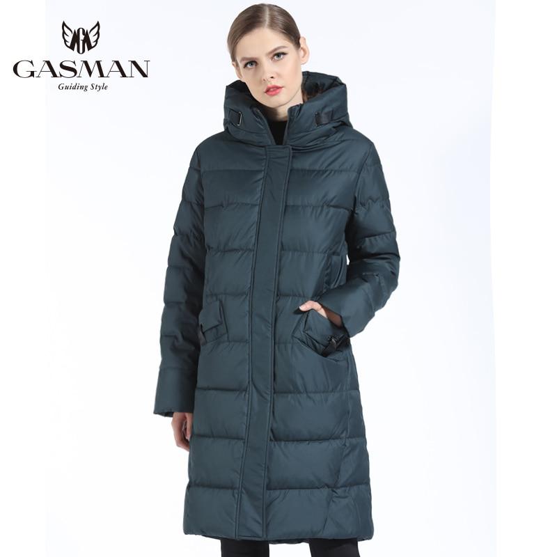GASMAN 2018 Mode Femme Veste D'hiver Vers Le Bas Femelle À Capuchon Vers Le Bas Parka Longue Pour manteau femmes D'hiver Épaississement grande taille 5XL 6XL - 2