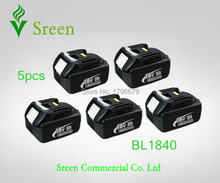 Sreen 4000mAh Rechargeable Li-ion Battery Pack Replacement for Makita 18V BL1830 Power Tool Battery 194205-3 194230-4 LXT400