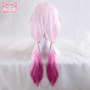 Image 2 - 【AniHut】Yuzuriha Inori Wig Gulity Crown Cosplay Wig Pink Synthetic Hair Anime Gulity Crown Yuzuriha Inori Cosplay Hair