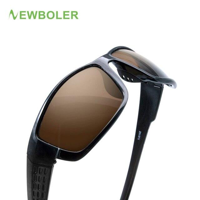 006f851c269 NEWBOLER Polarized Fishing Sunglasses Brown Yellow Lenses Night Version Men  Glasses Outdoor Sport Driving Cycling Eyewear UV400
