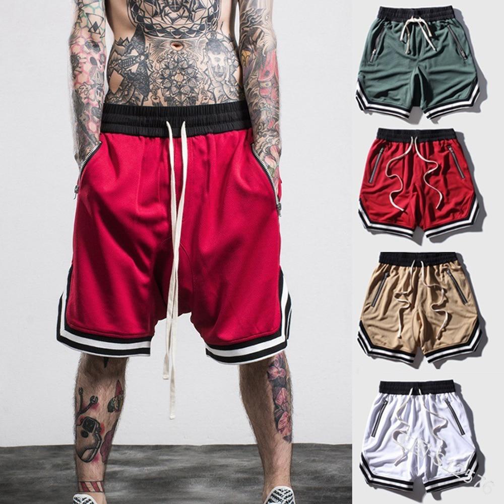 New Fashion Bermuda Loose Men   Shorts   Hip Hop Swag Zipper   Shorts   High Quality Mens Board Joggers Fitness   Shorts   Multi Color