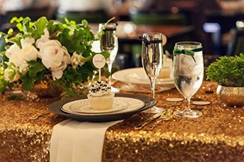 Gold Sequin Tablecloth Wedding Cake Tablecloth 48 Inch By 80 Inch Rectangle  Sequins Table For Wedding Decoration 120cmX2000cm