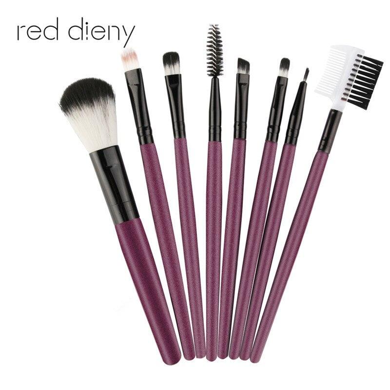 8Pcs/set Makeup Brushes Tools Kit Power Foundation Blush Eye Shadow Blending Fan Cosmetic Beauty Make Up Brush Maquiagem