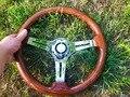 Универсальный высокое качество 350 мм/14 дюймов деревянный Phoebe руль гоночный автомобиль рулевое колесо три гоночных Phoebe