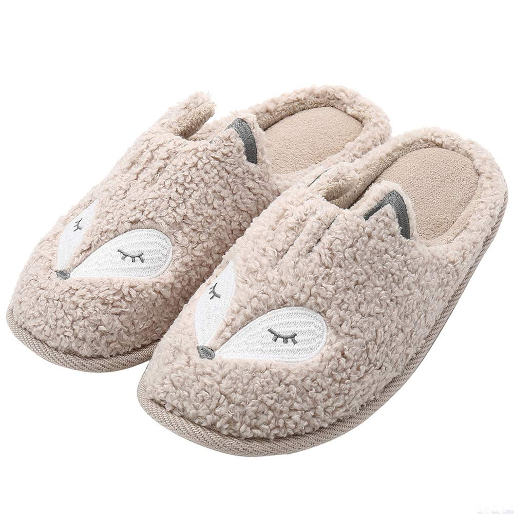 Cute Kids Animal Slippers Warm Memory Foam Cotton Home Slippers Soft Fleece Plush House Slippers Indoor Outdoor