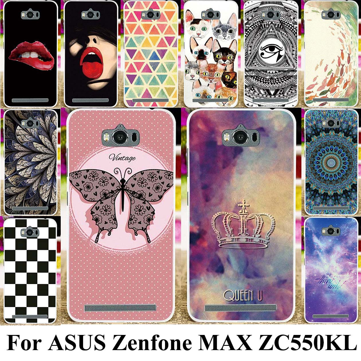 Silicone Mobile Phone Cover Case For ASUS Zenfone MAX ASUS_<font><b>Z010DD</b></font> Bag Shell Case Z010D ZC550KL Z010DA 5.5 inch image