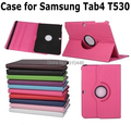 Fashion 360 Rotating PU Leather Case Cover Swivel Stand Holder for Samsung Galaxy tab 4 10.1 T531 T535 T530 with stylus pen