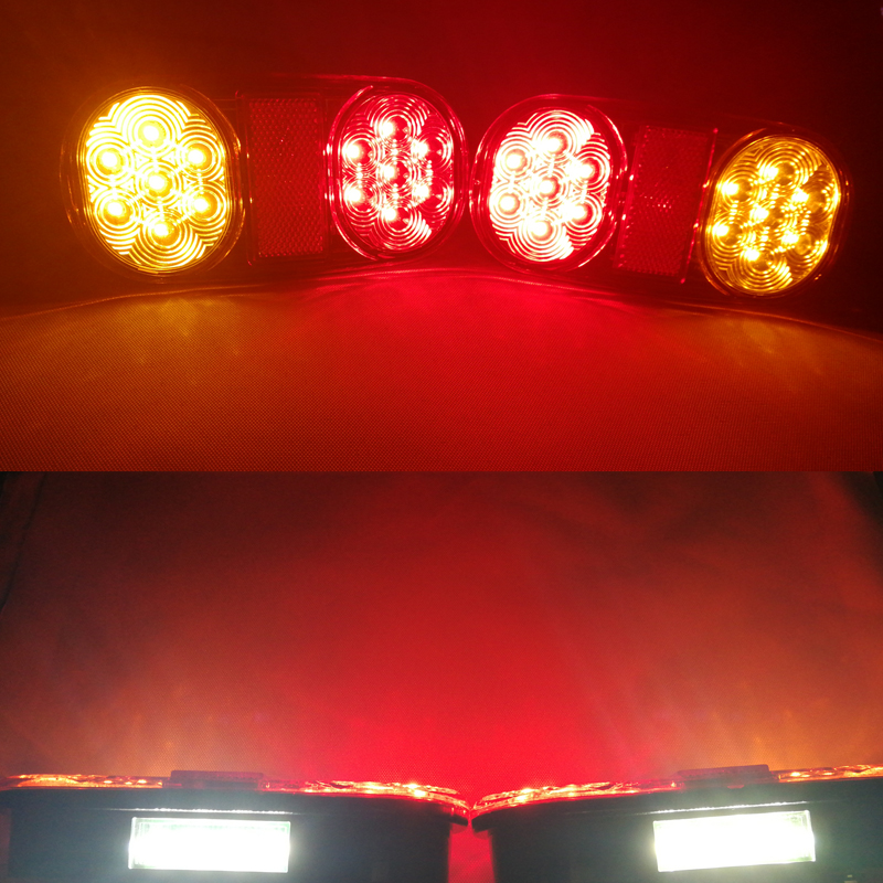 Image 5 - 1 Pair AOHEWEI 12v 18 leds trailer light  brake stop position led light turn light License Plate number plate tail light truck-in Truck Light System from Automobiles & Motorcycles