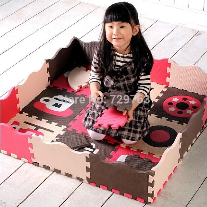 25 pièces/ensemble EVA mousse tapis de jeu bébé Puzzle tapis de sol clôtures tapis Pad jouets pour enfants 30*30*1.4 cm