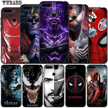 Iron Man Venom Deadpool Marvel Soft Silicone For Fundas Huawei Honor 8 Lite 9 Lite 10 9 8 8x 8c 8Lite Protective Back Cover(China)