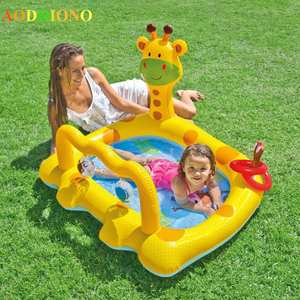 Inflatable Pool Swimming-Pool Plastic Child Bath Baby Infant Kids for Home-Giraffe Chair
