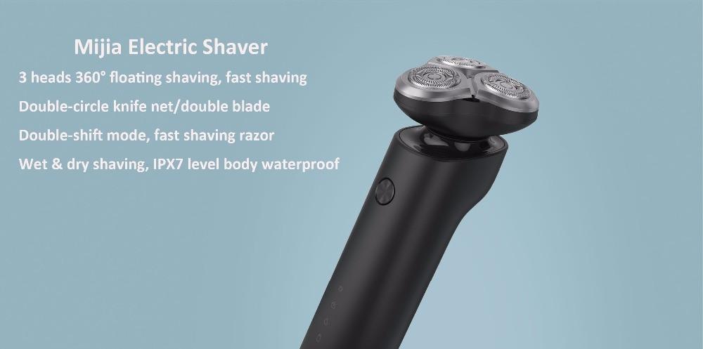 Image 2 - Original Xiaomi Mijia Electric Shaver S500 Razor 3 Head Dry Wet  Shaving Machine Beard Trimmer Washable Blade LED DisplaySmart Remote  Control