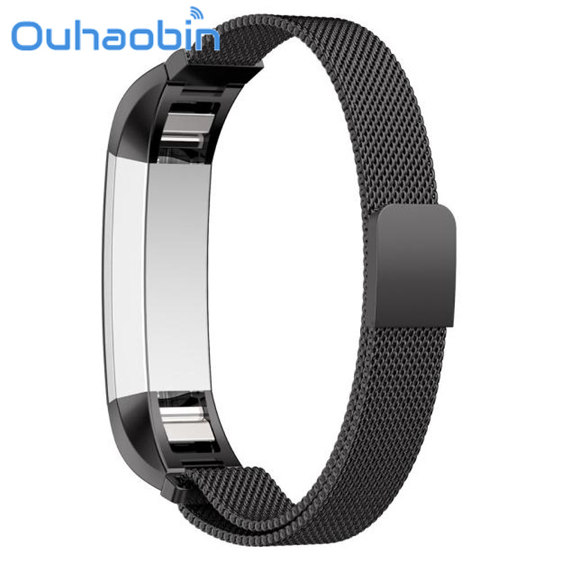Ouhaobin 12mm Milanese Magnetic Loop Stainless Steel Band For Fitbit Alta Smart Watch For 130-215mm Wrist Gift Sep 20