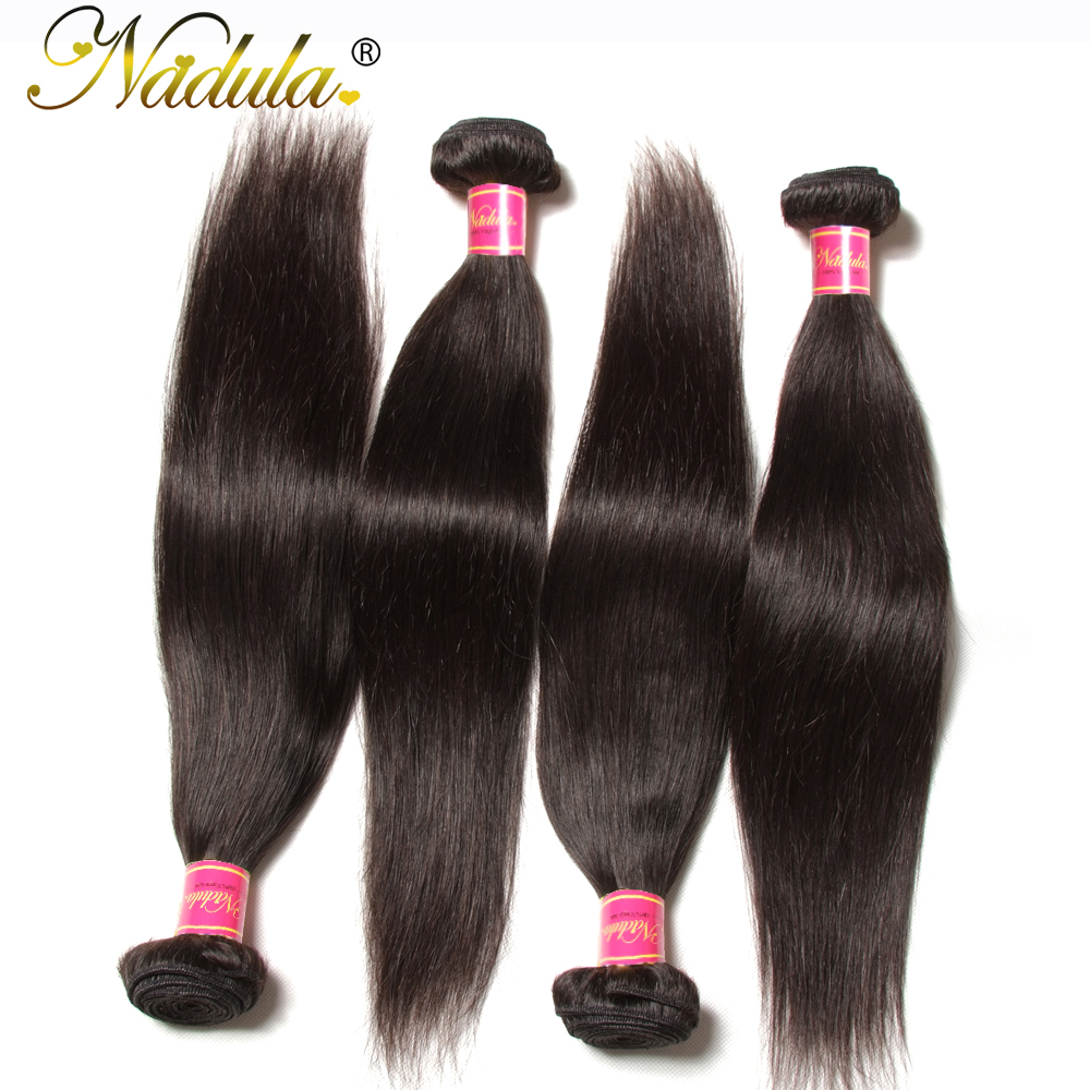 Nadula Hair Malaysian Straight Hair Weaves 100% Human Hair Bundles 8-30inch 100g/PCS Non-Remy Hair Extensions Free Shipping