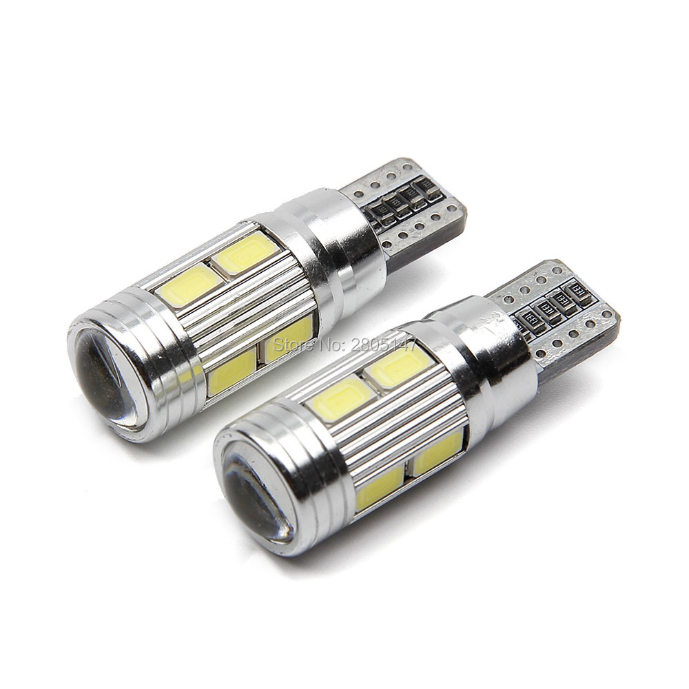 1x New Update T10 Led Auto Car Light Bulbs 5630 5730 Smd 10 Led W5w 12v Interior Parking