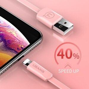 Image 5 - USAMS Téléphone USB Câble pour iPhone XR XS Câble pour iPad iPhone 6 7 8 plus de Synchronisation de Données USB 2A Câble De Charge pour iOS 12 11 Pomme