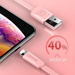Image 5 - USAMS USB Telefon Kabel für iPhone XR XS Kabel für iPad iPhone 6 7 8 plus Daten Sync USB 2A ladekabel für iOS 12 11 Apple