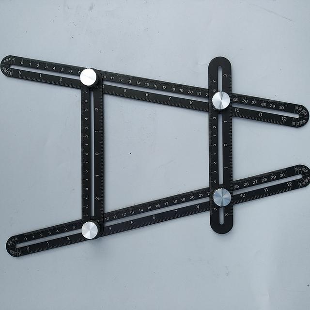 Six-Folding Adjustable Ruler Aluminum Alloy