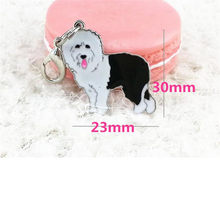 Pratico 2018 NEW Old English sheepdog Dog Tag Disco Pet ID Smalto Accessori Della Collana Del Collare Del Pendente Del Cane Forniture C30425(China)