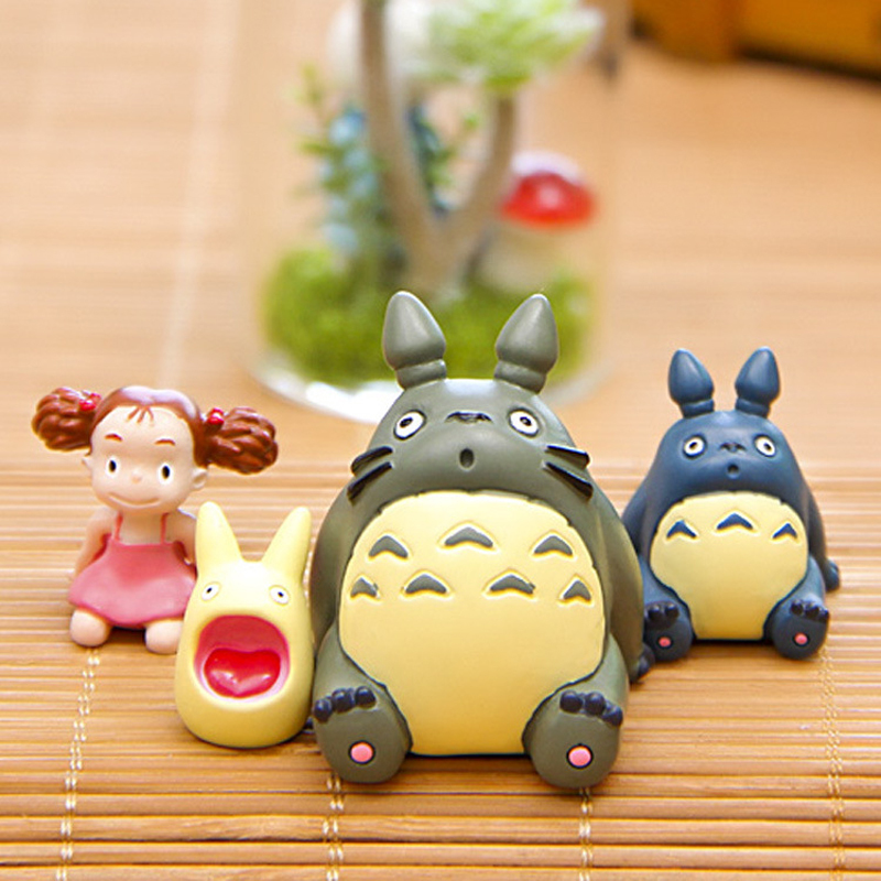 Totoro Figure Toy DIY Miyazaki My Neighbor Totoro May Look up to the Sky Mini Resin Action Figure Collection Model Toy for Kids