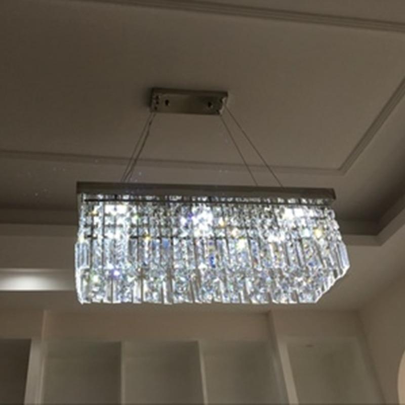 Us 7912 54 Offplac Prostokątne Led Salon Lada Do Restauracji I Baru Kryształ światła Lampy Sufitowe Korytarz Oświetlenie Hall Oświetlenie Led W