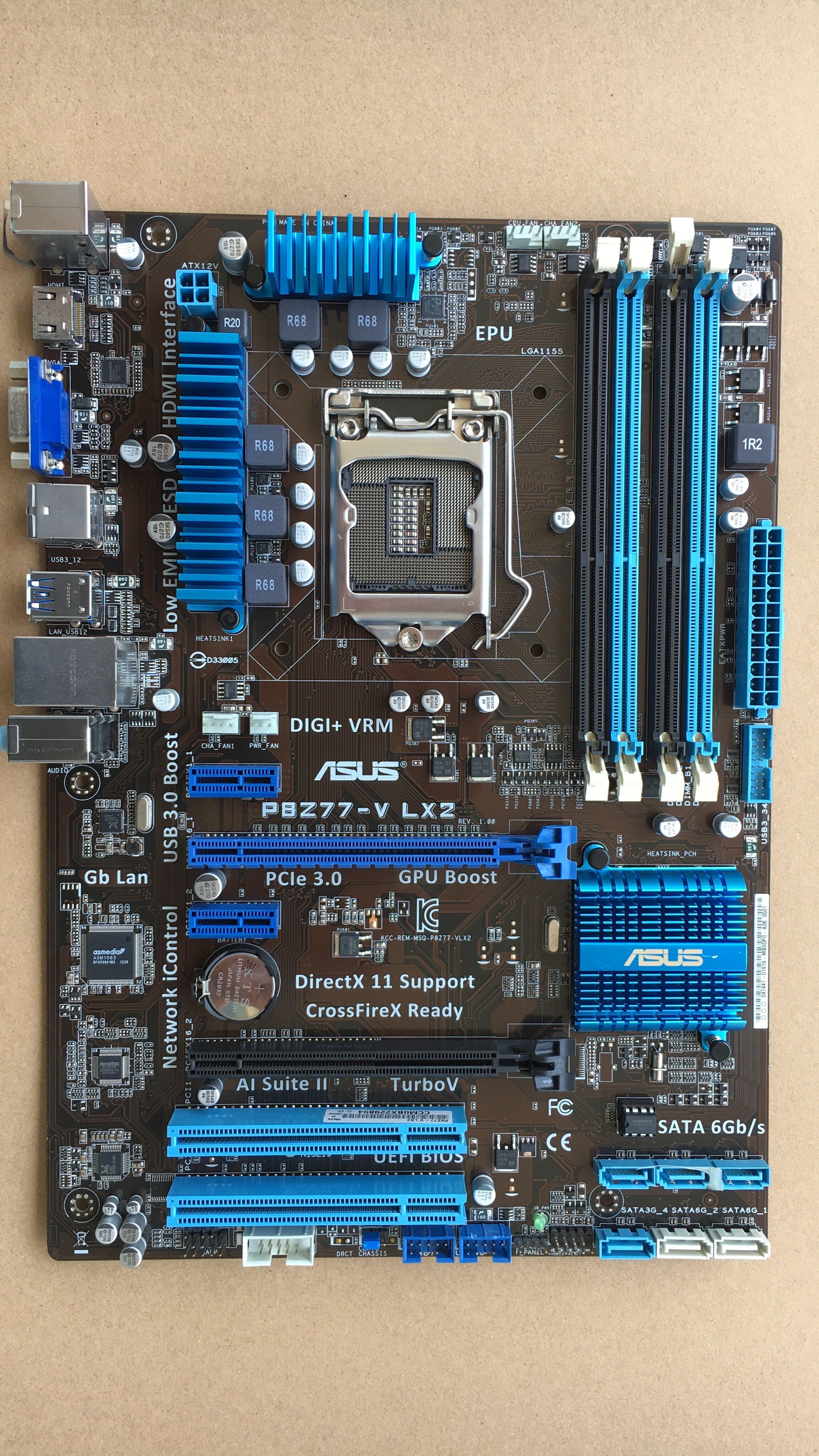 original motherboard P8Z77-V LX2 DDR3 LGA 1155 for I3 I5 I7 CPU USB3.0 32GB Z77 Desktop motherboard литой диск replica fr lx 98 8 5x20 5x150 d110 2 et54 gmf