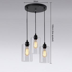 Image 5 - Vintage Glass Pendant Lights Classic Indoor Handlamp Living Room Restaurant Pendant Lamp Luminaria Lighting