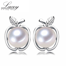 100% 925 sterling silver stud earring pearls for women freshwater pearl earring,real pink white pearl earrings jewelry wift gift