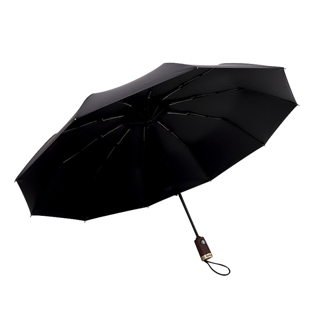 Black Big Golf Automatic Folding Umbrella Female Male Rain Women Folding Strong Large Umbrellas Men Women Windproof For The Sun