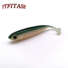 YTFITASH Hot selling! 5PCS /Lot 2.5g 7cm  Fishing Soft Lures 3D Eyes T Tail Artificial Silicone Bait
