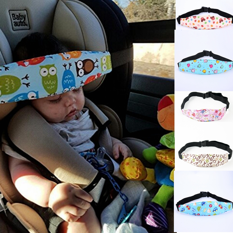 Baby Head Support Kids Toddler Car Seat Fastening Belt Sleep Safety Strap Cute Neck Protection Belt Blue Monkey