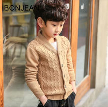2018 Children's clothing boys sweater cardigan children's knit jacket for big children 2018 autumn clothes xru22(China)