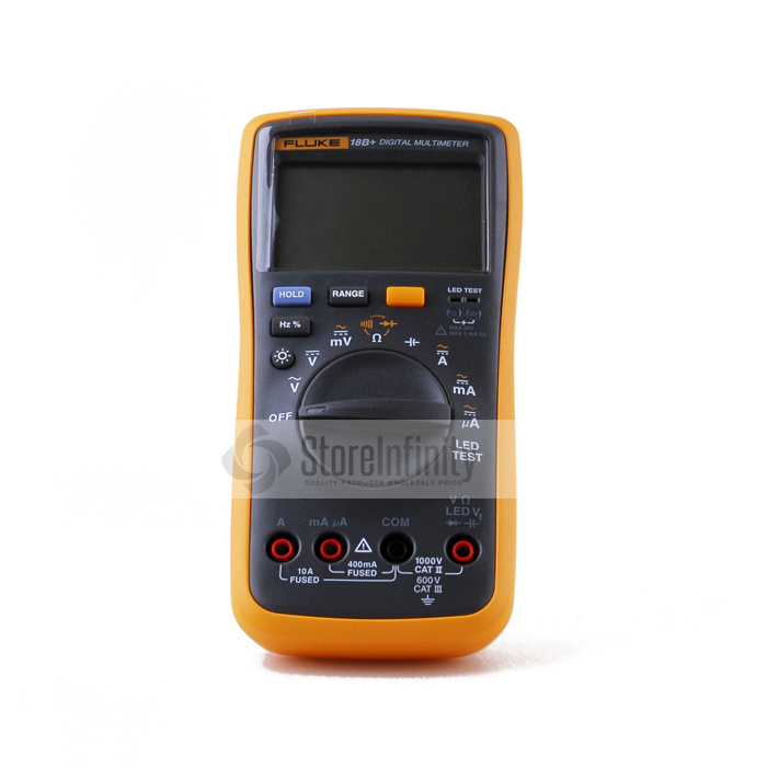 Latest Fluke 18B+ Plus AC DC Voltage Current Digital Multimeter DMM with LED