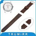 20mm 22mm genuíno relógio de couro pulseira de banda para hamilton alça de liberação rápida substituição da correia das mulheres dos homens pulseira de pulso marrom