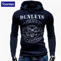 Slim Fit Men'S Sweatshirts New Male Cotton Hooded Hoodies Chest Pattern Letters Printed Men Pullovers Tracksuit Sudaderas Hombre