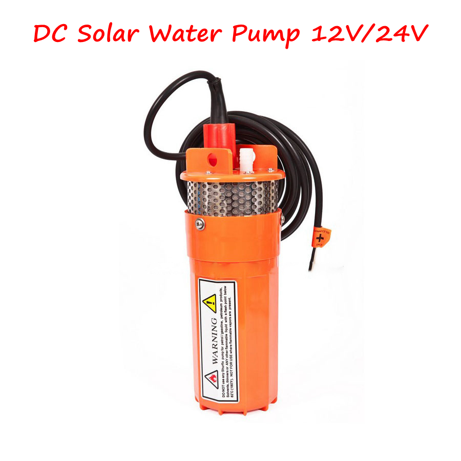 2pcs/lot  DC Solar Water Pump 12V/24V Submersible Deep Well Pump with High Quality