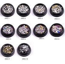 1 коробка 10 различных стилей прямоугольные плоские кристаллы