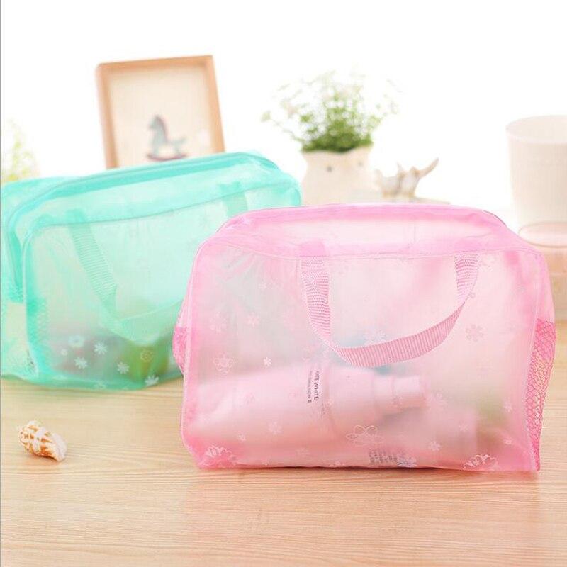 Travel Ladies Waterproof Women's Bag Organizer Women Cosmetic Makeup Storage Bag Wash Shower Bathroom Storage Bags