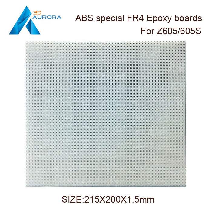 Aurora 3D printer Z605/Z605S ABS special FR4 porous epoxy boards (pegboard) 21.5x20cm Fixed plate Free shipping Hot sale