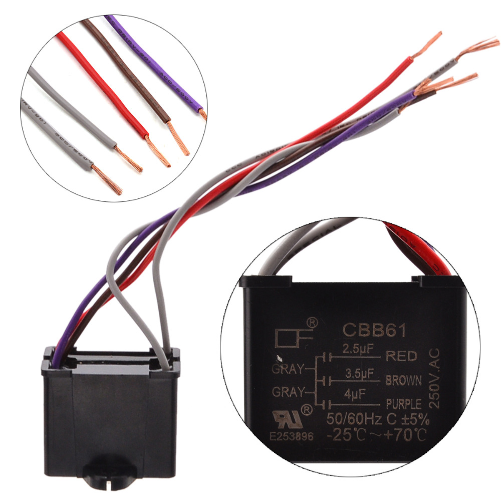 small resolution of 1pc black cbb61 capacitor 25uf 35uf 4uf capacity 5 wires rhaliexpress cbb61 capacitor 5 wire cbb61 capacitor 5 wire wiring harness