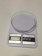 Digital Kitchen Scale 1g to 5KG SF-400 ABS Plastic LCD Large Capacity Diet Food Count White Electronic Scales