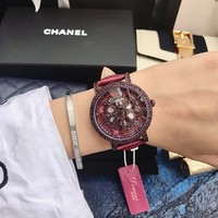 2019 Hot Fashion Designer Brand Luxury Watch Women Leather Strap Women Dress Watch Rotating Flower Face Women Watches Quartz