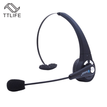 TTLIFE Professional Over the Head Bluetooth Headset Wireless Trucker Noise Cancelling Handfree With Mic for VoIP Skype Cellphone
