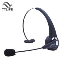 TTLIFE Профессиональный Над Головой bluetooth гарнитуры Беспроводной Trucker Шум отмена Handfree с микрофоном для voip skype мобильного телефона