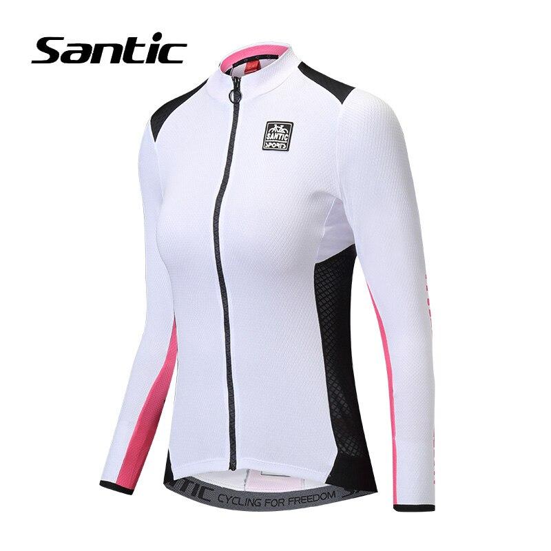 Santic femmes cyclisme maillot à manches longues Anti-UV route VTT Jersey 2018 respirant Pro vélo chemise Jersey Ciclismo