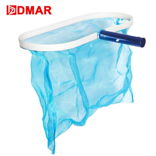 DMAR Swimming Pool Skimmer Cleaner Leaf Rake Mesh Net Not Including The Rod Pool Tools Leaf Aluminum Deep Bag Accessorues